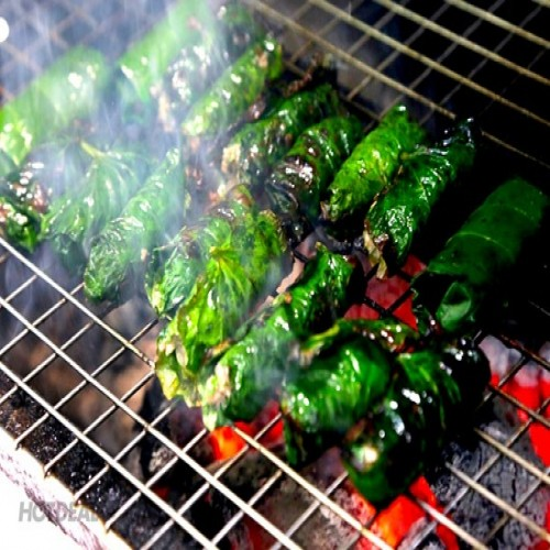 GRILLED BEEF WRAPPED IN WILD BETEL LEAVES